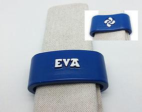 EVA napkin ring with lauburu 3D print model