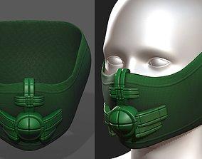 low-poly Helmet scifi military combat 3d