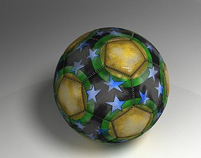 3D model realtime Soccer ball accessory