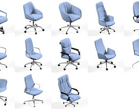 11 office chair pack collection 3D