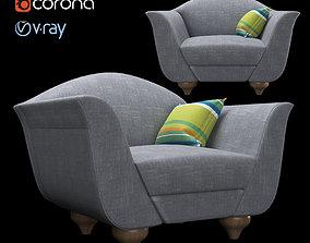 3D Italian armchair houseware