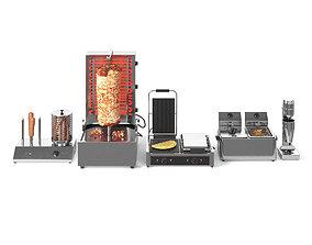 Equipment for Doner Cafe 3D model