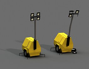Post Apocalyptic Light Generator 3D model
