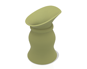 country style vase cup vessel v312 for 3d-print or cnc
