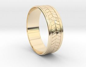 3D print model FLORAL RING jewelry