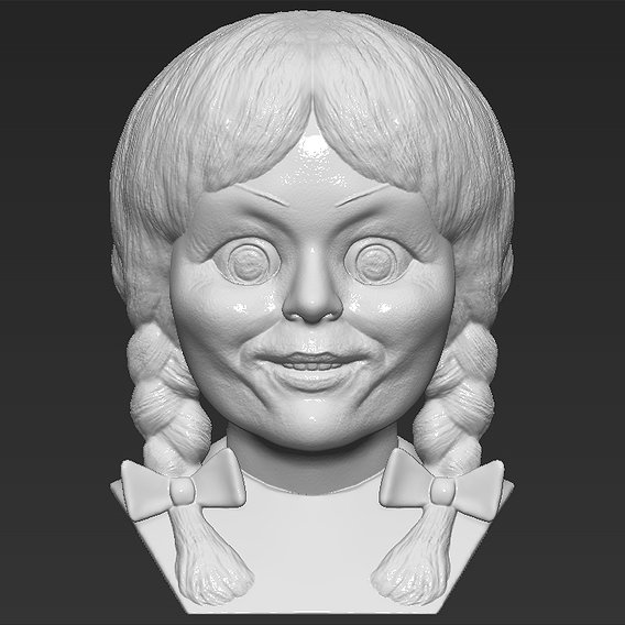 Annabelle bust for 3D printing