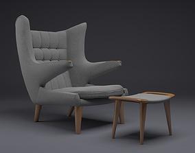 arm chair papa bear chair 3D model