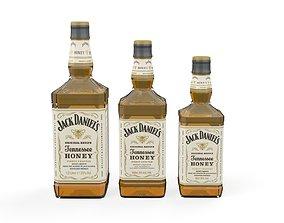 3D asset Jack Daniels Honey Bottles PBR