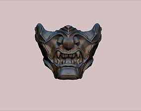 3D print model japanese demon mask Ghost of Tsushima game
