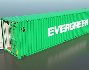 Shipping Container 45HC Rigged 3D High Poly rigged