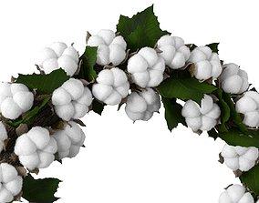 wall 3D model Cotton wreath