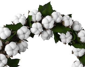 3D Cotton wreath