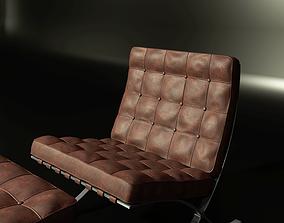3D model Barcelona Chair medium poly