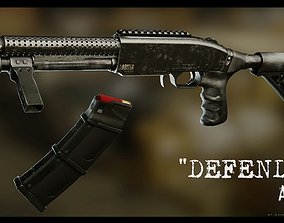 3D asset rigged Arbiter Defender Pump Shotgun