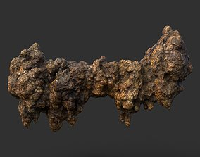 3D model Low poly Stalactite Cave Rock Modular 09 201216