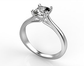 3D printable model Cushion Solitaire Ring