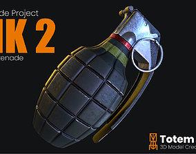 3D model MK 2 Frag Grenade