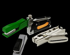 Staplers PACK 3D model animated