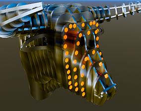 Metalic bull head 3D
