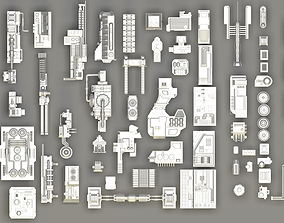 greeble and sci fi pieces various-models 3D model