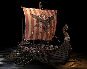 Viking boat - viking ship- longship 3D