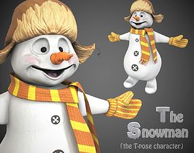 3D model Snowman game character