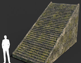 3D model Low poly Mossy Ruin Temple Element 09 190403