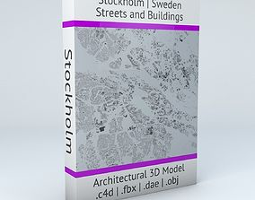 3D model Stockholm Streets and Buildings
