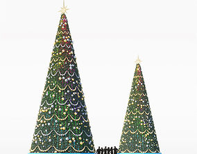 3D model Christmas tree for city