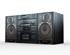 Stereo Cassette Deck Receiver 3D model