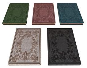 5 Notebooks Pack 3D asset