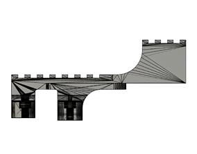 3D print model SS stepped rail for GLM320