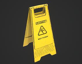 3D model Wet Floor Sign