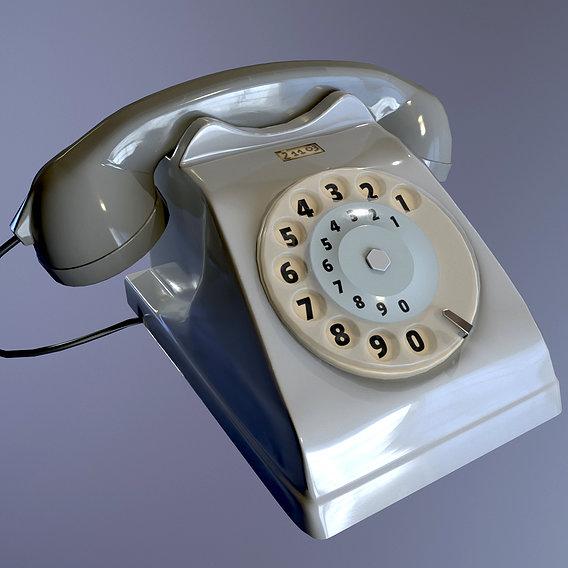 Old phone Italian bigrigio
