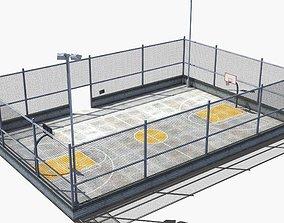 3D model Neighborhood Basketball Court