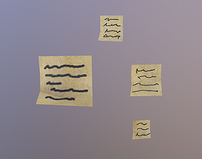 Note Papers 3D asset