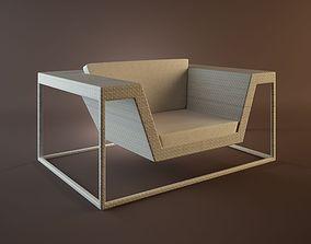 dedon flyer lounge chair xxl 3D model