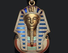 3D printable model Pharaoh pendant with gems and enamel