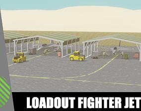 pack loadout fighter jet low poly 3D model