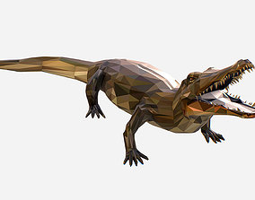 Animated Animal Low Poly Art Crocodile Reptile 3D model