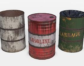 Barrels Asset 02 low-poly