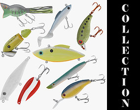 3D 9 Fishing Lures Collection