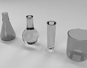 Chemical flasks 3D model