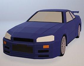 Nissan GT-R 3D asset realtime