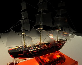 3D model Chinese sail boat