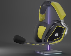 3D model Corsair Void Pro Gaming Headphones