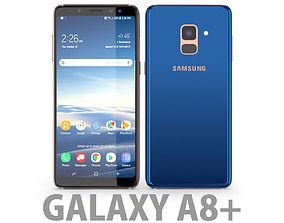3D model Samsung Galaxy A8 Plus 2018 Blue