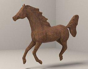 wooden horse 3D model