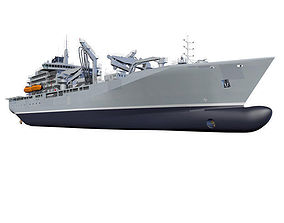3D model Naval re-supply ship RAS