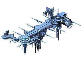 3D Spaceship - port of call